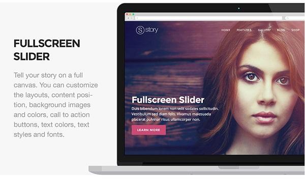story presentation4 Responsive Flat Design Template