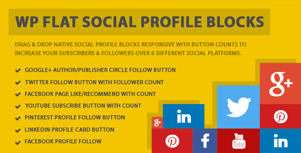 wp flat Social Media Plugins