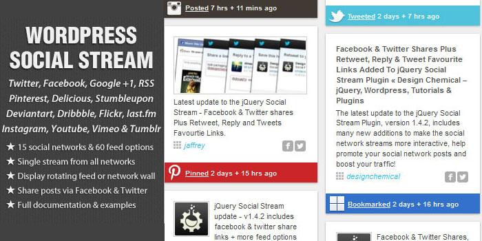 wp social feeds plugins