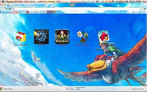 zelda Chrome Theme