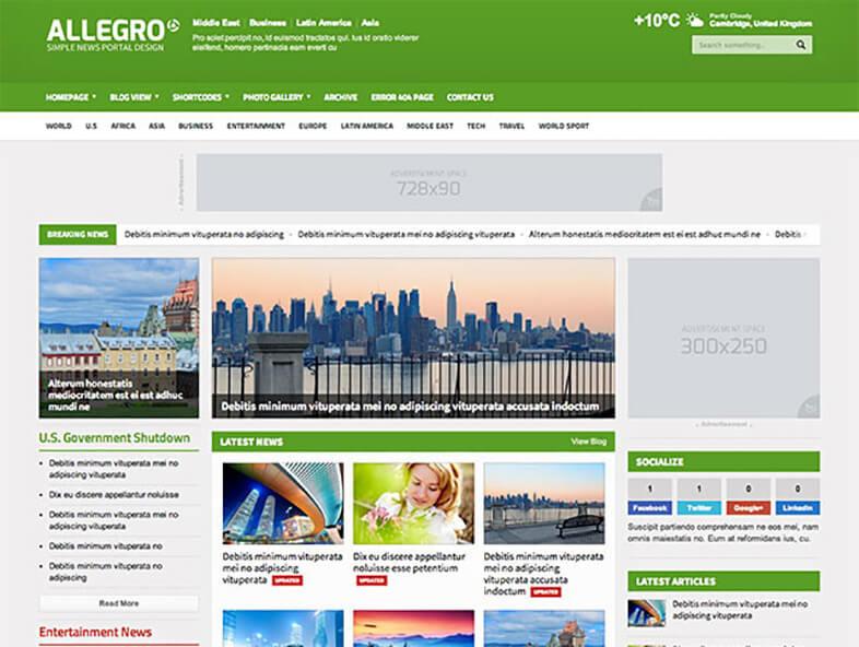 Allegro Best Responsive Magazine