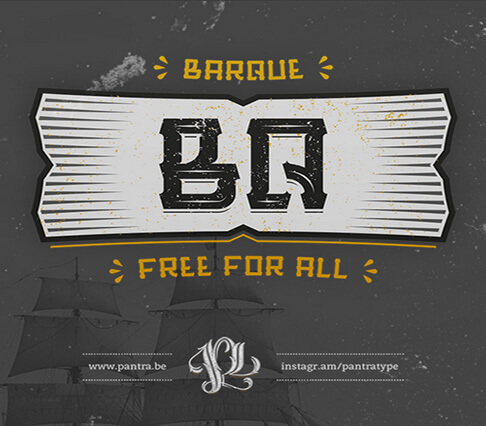 Barque+font Font for Hipsters