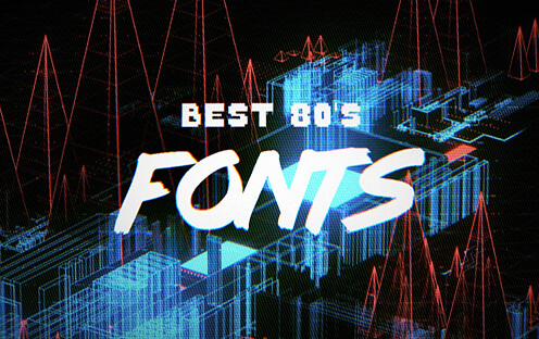 Best Free 80s Font for Hipsters