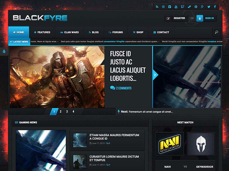BlackFyre Responsive Gaming