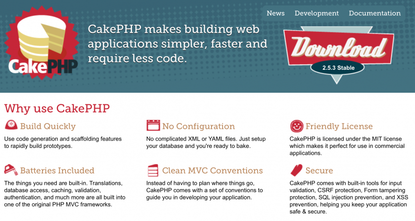 Cake PHP Framework