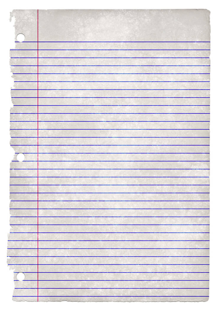 College Ruled Paper Texture