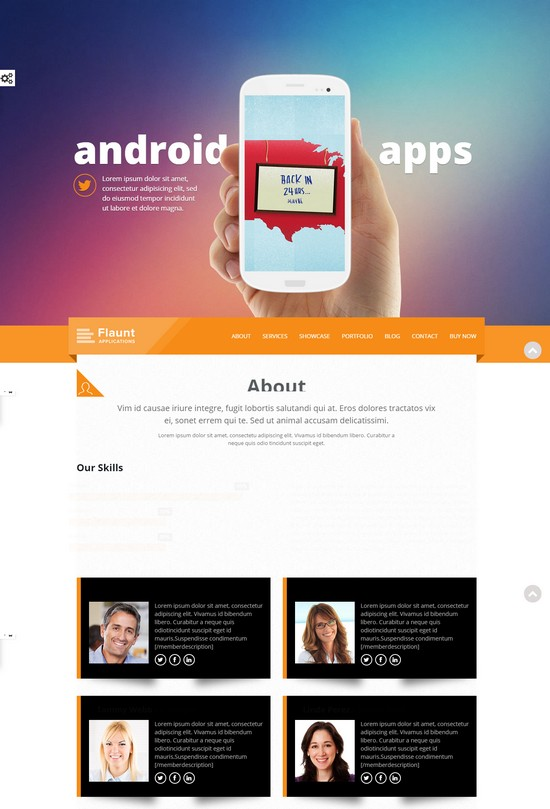 Flaunt HTML5 Template