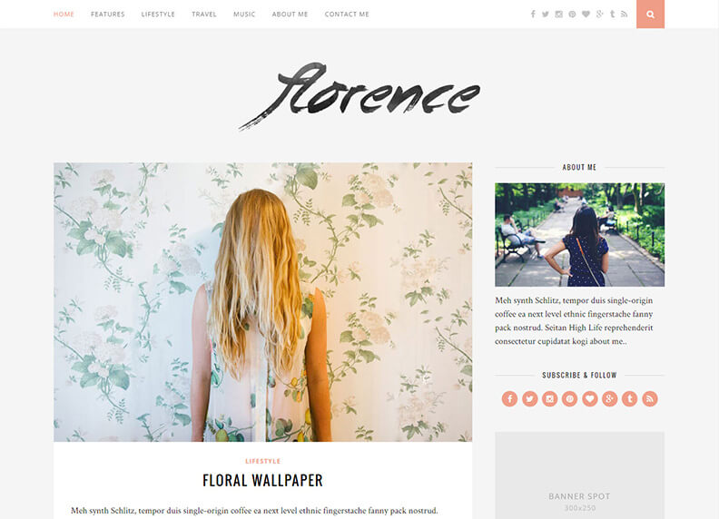 Florence Just another 80 Best Responsive Magazine