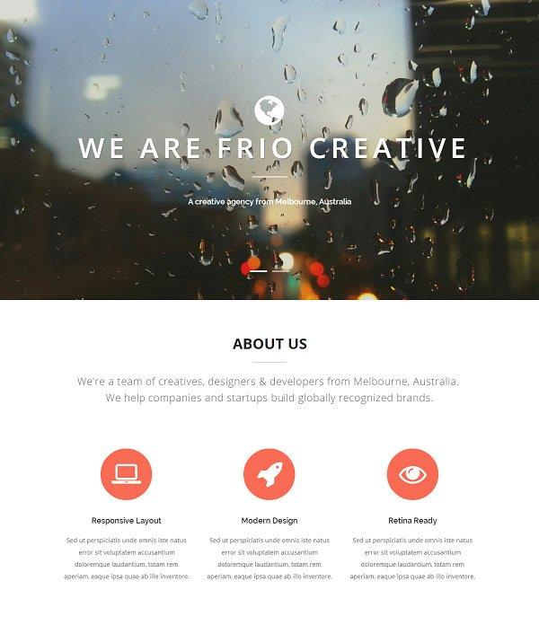 Frio HTML5 Template