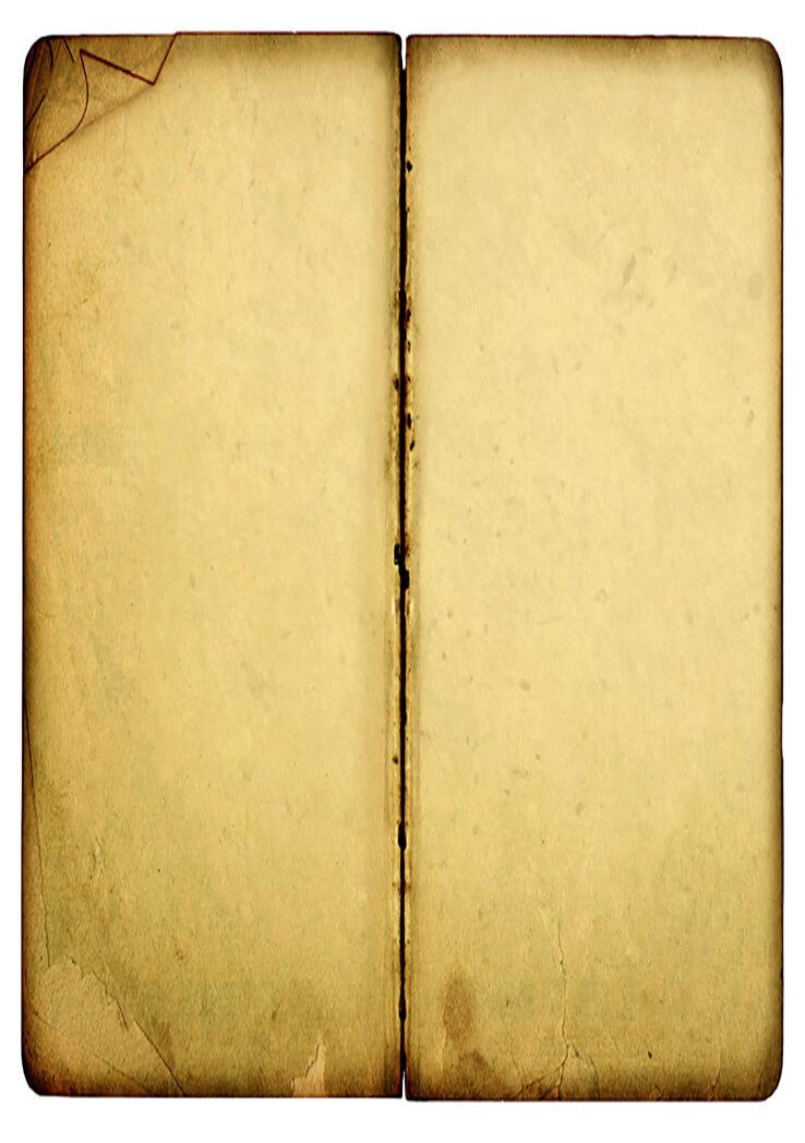 Grunge Open Book Paper Texture