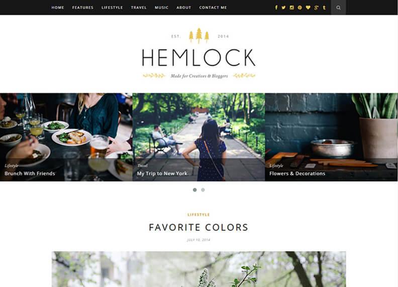 Hemlock 80 Best Responsive Magazine WordPress