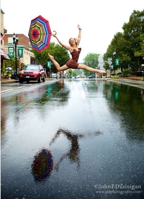 Lady jump on road Photography for Inspiration