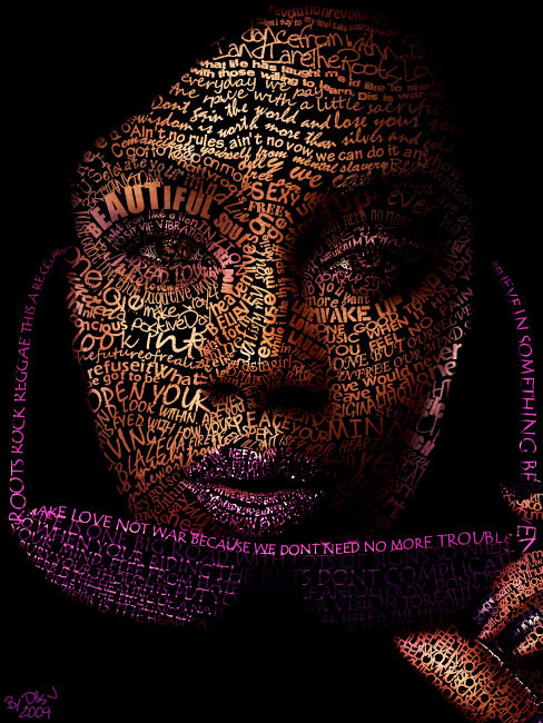 Love Face Beautiful Example Of Text Art
