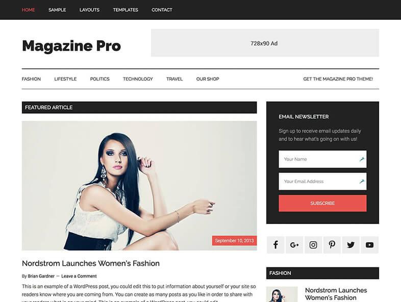 Magazine Pro WordPress Theme 2017