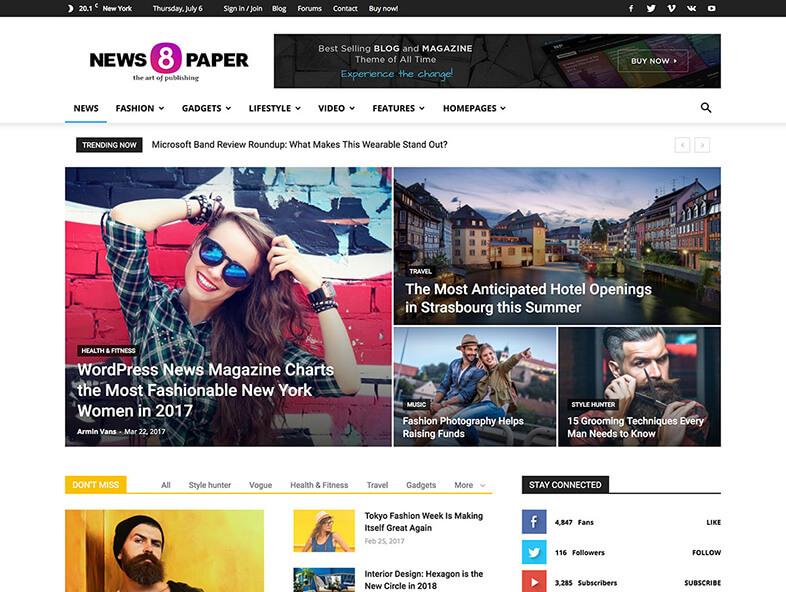 Newspaper theme Magazine WordPress