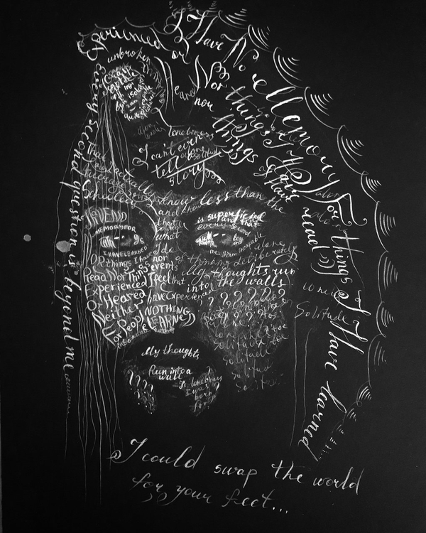 Old Artist Text Art and Typography Art Design