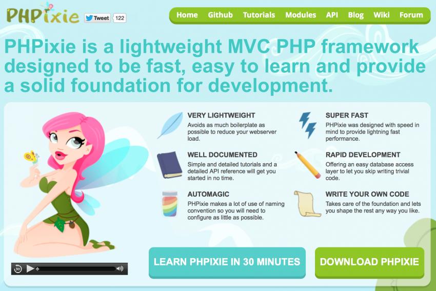 PHPixie Framework For Web