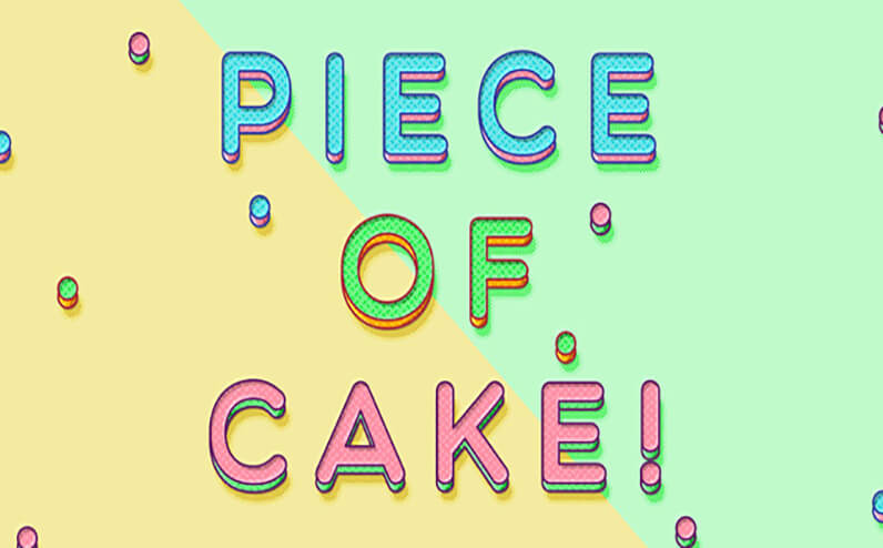 Piece of Cake Text Effects