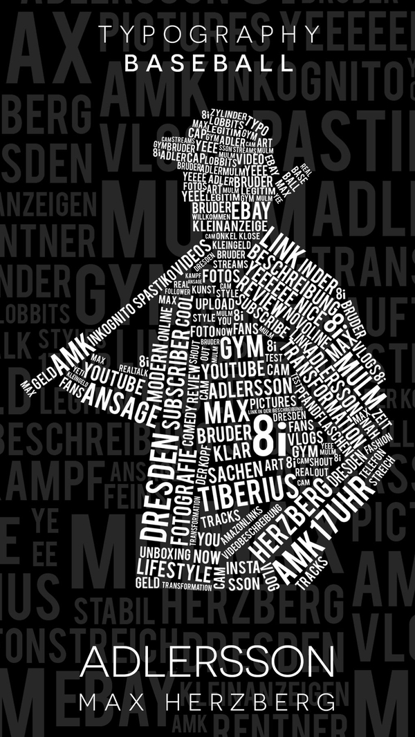 Player Art Text Art and Typography Art Design
