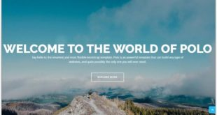 parallax scrolling HTML5 Templates
