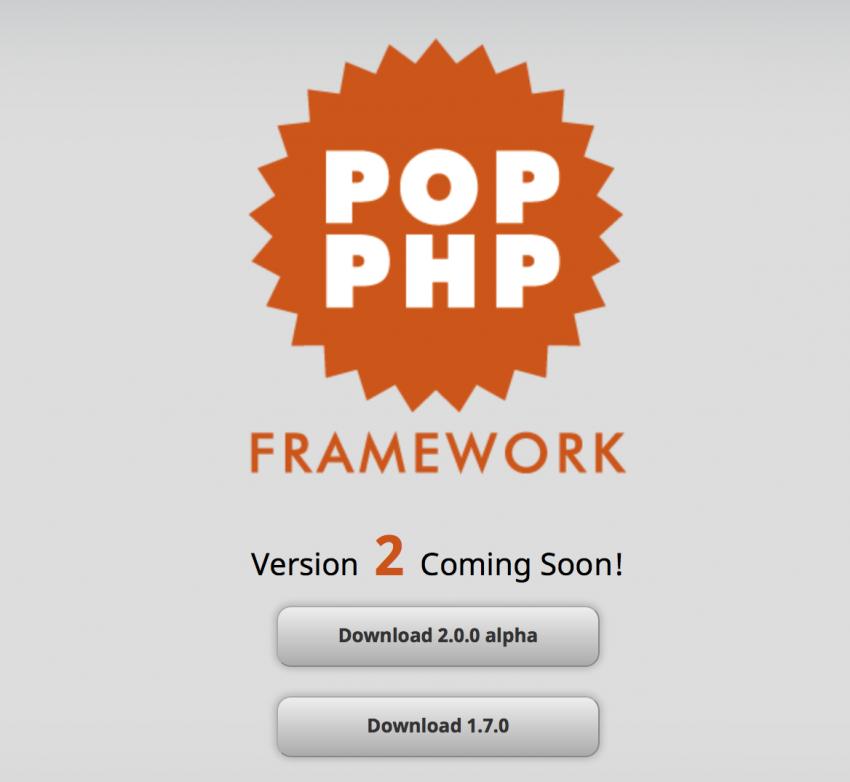 Pop PHP Framework For Web Developers