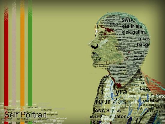 Portrait Typography Art Design