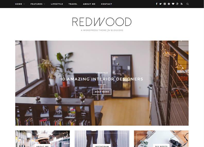 Redwood Just another Magazine WordPress Theme