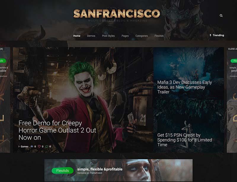 SanFrancisco Gaming WordPress