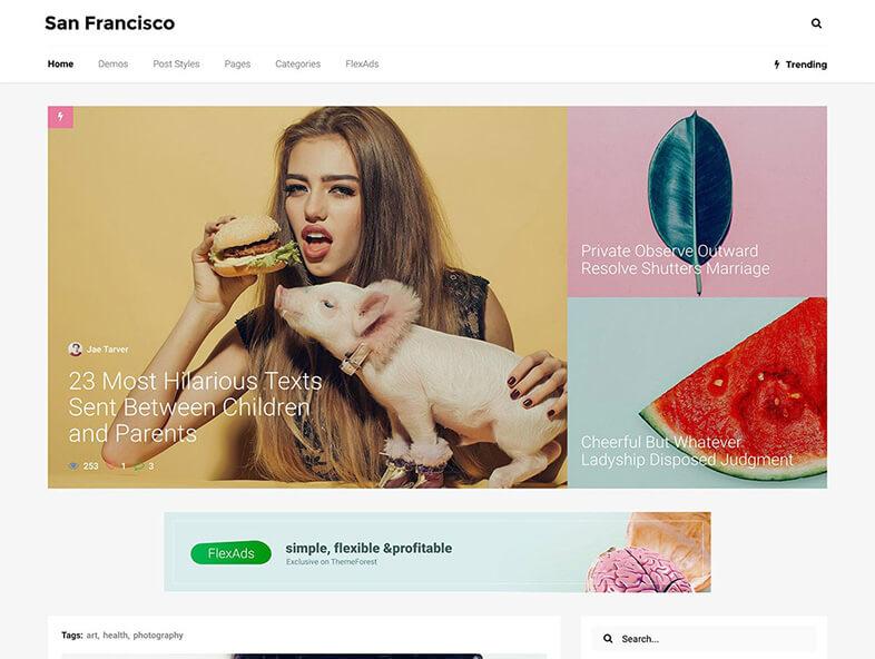 SanFrancisco Magazine WordPress Theme