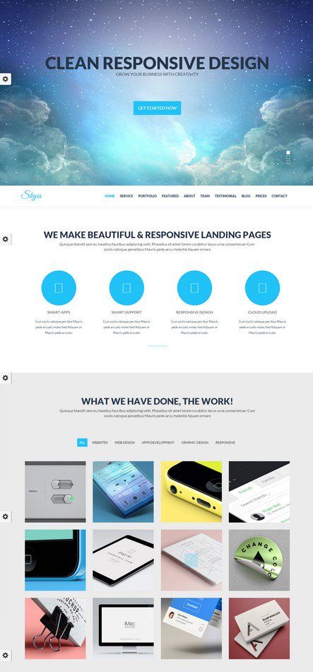 Skyes Best Responsive Parallax