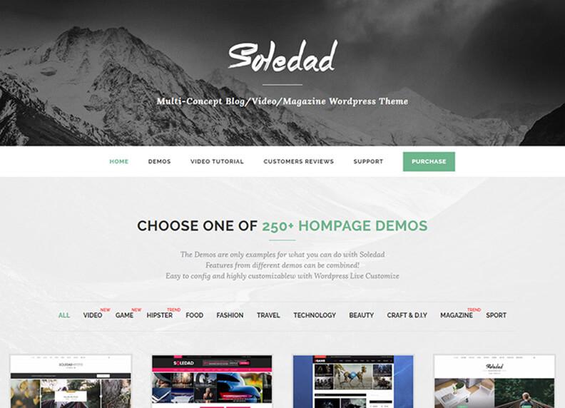 Soledad Best Responsive Magazine WordPress