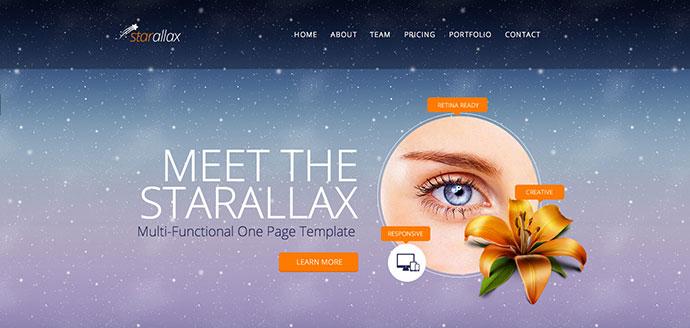 Starallax Scrolling HTML5