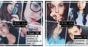 VSCO Cam Filter Settings