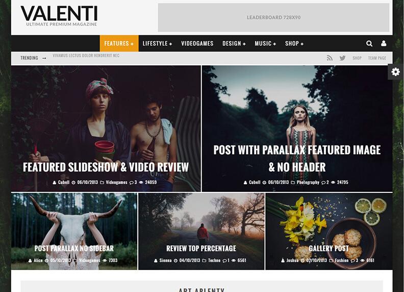Valenti Best Responsive Magazine WordPress