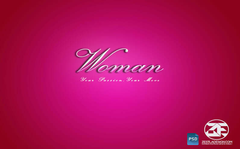 Woman Text Effects Download