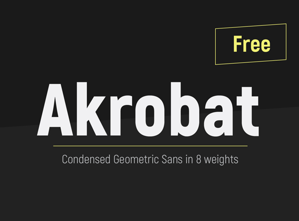akrobat font free