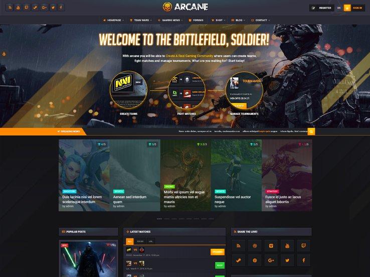 arcane Responsive Gaming