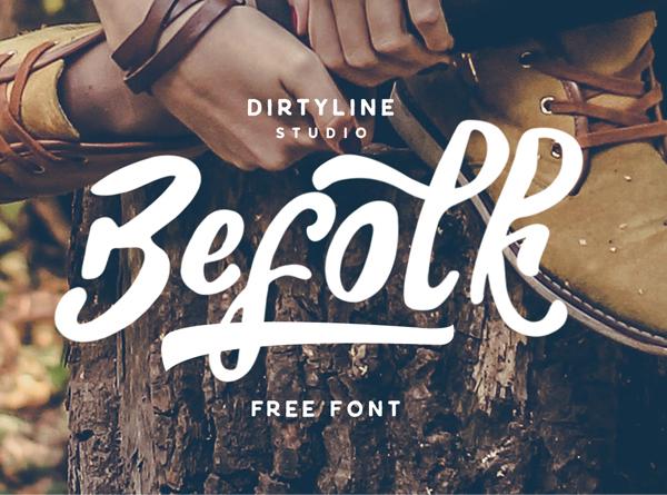 befolk Free Font 2017