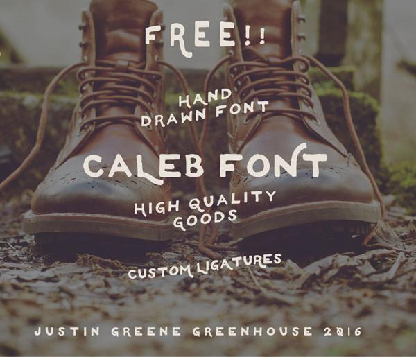 caleb font Free Font 2017