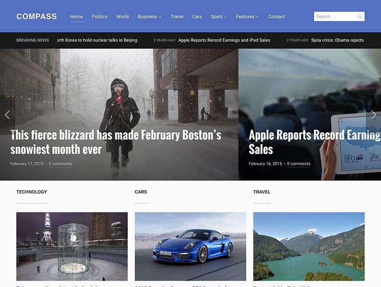 compass Best Responsive Magazine WordPress Theme