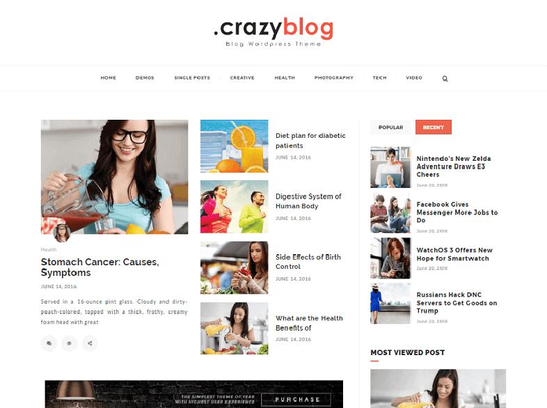 crazy Best Responsive Magazine WordPress Theme