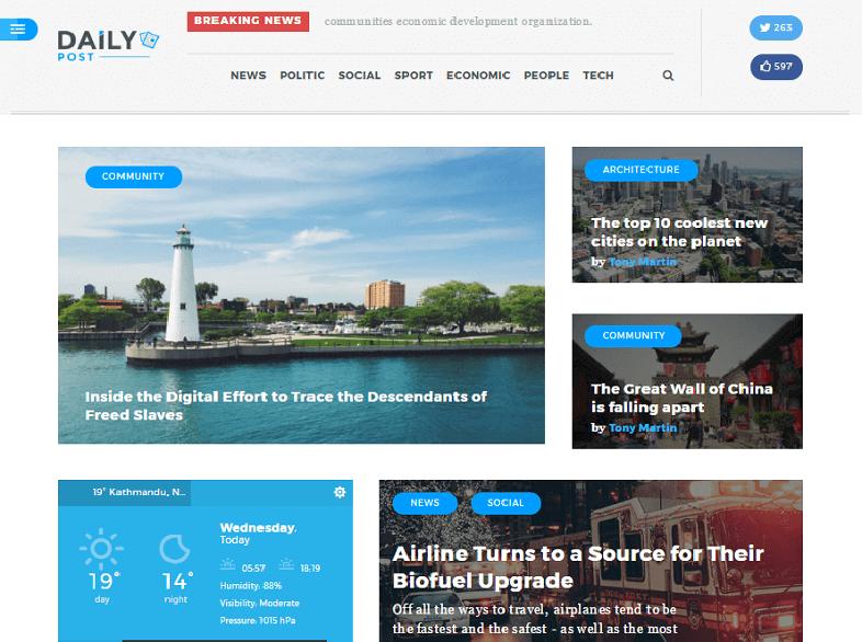 daily Best Responsive Magazine WordPress Theme