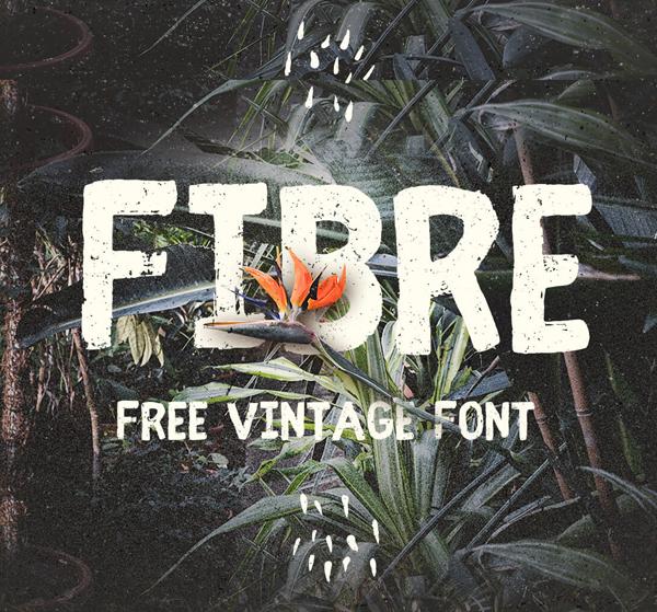 fibre Free Font 2017 for Graphic Designers