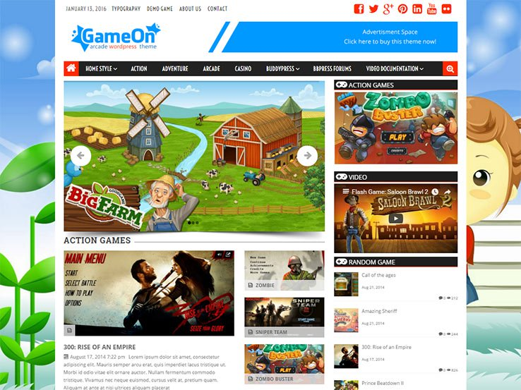 gameon Gaming WordPress Theme