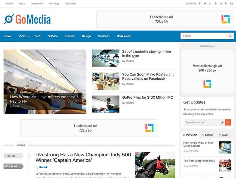 gomedia 80 Best Responsive Magazine