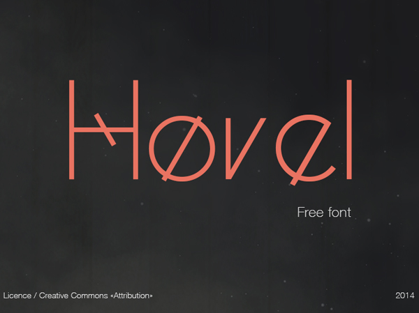 hoval Free Font 2017 for Graphic Designers