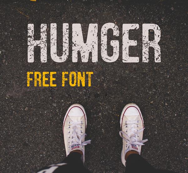 humger Free Font 2017