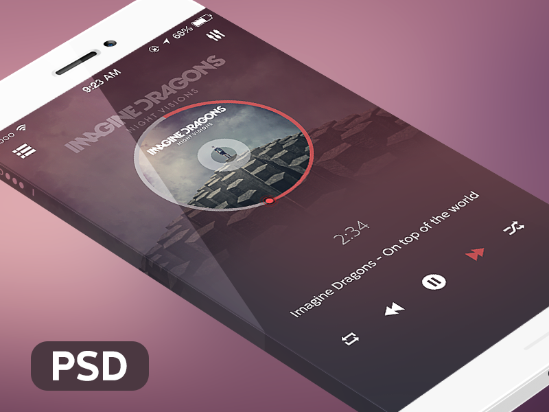 innovation Video Player UI PSD