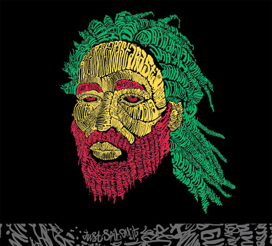 jah Beautiful Example Of Text Art and Typography Art