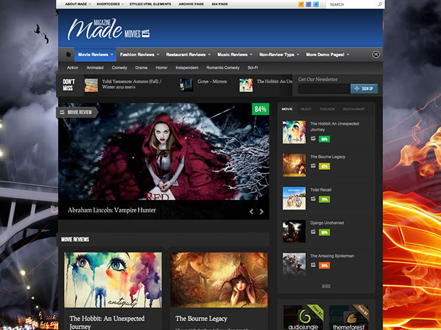 made Responsive Gaming WordPress Theme